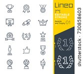 lineo editable stroke   awards... | Shutterstock .eps vector #730858603