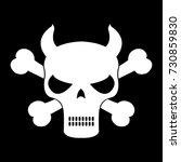 skeleton  skull vector | Shutterstock .eps vector #730859830