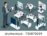 qualitative isometry a set of... | Shutterstock .eps vector #730870039