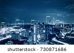 machine learning on urban... | Shutterstock . vector #730871686