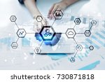 iot  automation  industry 4.0.... | Shutterstock . vector #730871818