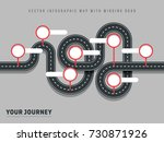 navigation winding road vector... | Shutterstock .eps vector #730871926