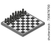 chessboard with photo realistic ... | Shutterstock .eps vector #730878700