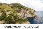 manarola skyline from the air ... | Shutterstock . vector #730879360