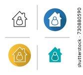 tenant  resident  housekeeper ... | Shutterstock .eps vector #730880590