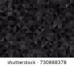 backgrounds  black geometry ... | Shutterstock .eps vector #730888378