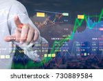 stock market digital graph... | Shutterstock . vector #730889584