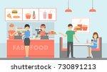 fast food restaurant. people... | Shutterstock .eps vector #730891213