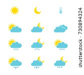 Set Of Weather Icons For Web O...