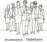 business team   continuous line ... | Shutterstock .eps vector #730895644