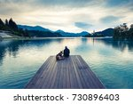 couple travelers in slovenia... | Shutterstock . vector #730896403