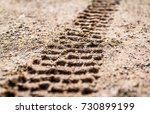 Motorcycle Tire Track Print On...