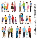people flat style  collection | Shutterstock . vector #730900330
