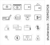 finance icons | Shutterstock .eps vector #730902928