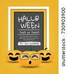 happy halloween day  vector... | Shutterstock .eps vector #730903900
