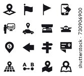 16 vector icon set   pointer ... | Shutterstock .eps vector #730906900