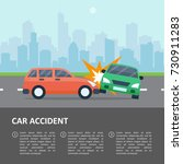 car accident template. street... | Shutterstock .eps vector #730911283