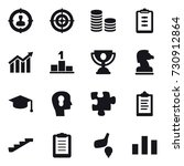 16 vector icon set   target... | Shutterstock .eps vector #730912864