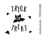 cute halloween in trick or... | Shutterstock .eps vector #730914280