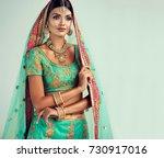 Portrait Of Beautiful Indian...