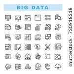 big data icons set and web... | Shutterstock .eps vector #730918318