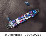 container ship in import export ... | Shutterstock . vector #730919293