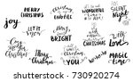 set of christmas lettering... | Shutterstock .eps vector #730920274