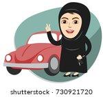 arab saudi woman or girl being... | Shutterstock .eps vector #730921720