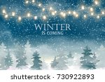 winter is coming. winter... | Shutterstock . vector #730922893