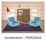 interior of living room... | Shutterstock .eps vector #730923463