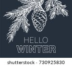 hello winter card. background... | Shutterstock .eps vector #730925830