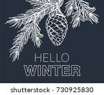 hello winter card. background... | Shutterstock .eps vector #730925830