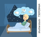 man with insomnia. trying to... | Shutterstock .eps vector #730928464
