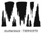 Stalactites Cave Silhouette....
