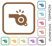 whistle simple icons in color... | Shutterstock .eps vector #730949254