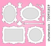 baroque frame and decorative... | Shutterstock . vector #730951819
