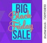 abstract vector black friday... | Shutterstock .eps vector #730953850
