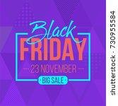 abstract vector black friday... | Shutterstock .eps vector #730955584