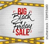 abstract vector black friday... | Shutterstock .eps vector #730955680