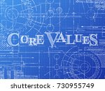 core values text with gear... | Shutterstock .eps vector #730955749
