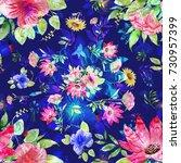 abstract flower bouquet... | Shutterstock . vector #730957399