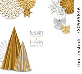 merry christmas  happy new year ... | Shutterstock .eps vector #730969846