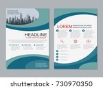 modern business two sided flyer ... | Shutterstock .eps vector #730970350