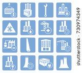 industry icon set vector | Shutterstock .eps vector #730974349