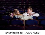 bride and groom at the theater | Shutterstock . vector #73097659