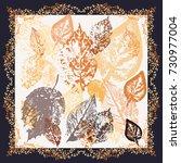 autumn square arrangement from... | Shutterstock .eps vector #730977004