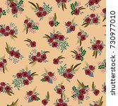 fashion seamless pattern with...   Shutterstock .eps vector #730977010