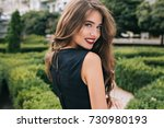 closeup portrait from back of... | Shutterstock . vector #730980193