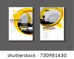 abstract circle yellow  cover... | Shutterstock .eps vector #730981630