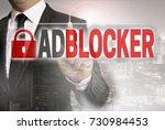 adblocker is shown by...   Shutterstock . vector #730984453